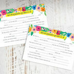Floral Fiesta Wedding Wishes & Words of Wisdom Cards additional 1