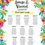 Floral Fiesta Wedding Seating Plan additional 2