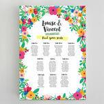 Floral Fiesta Wedding Seating Plan additional 1
