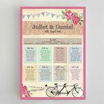 Tandem Bicycle Wedding Seating Plan additional 2