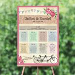 Tandem Bicycle Wedding Seating Plan additional 1