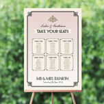 Pastel Art Deco Wedding Seating Plan additional 1