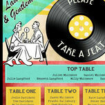 Retro Diner 1950s Wedding Seating Plan additional 4