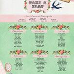 Vintage Trinkets Wedding Seating Plan additional 2