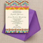 Aztec Ikat Wedding Invitation additional 1