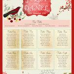Winter Wonderland Wedding Seating Plan additional 4