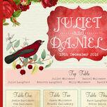 Winter Wonderland Wedding Seating Plan additional 3