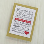 Personalised Famous Couples Valentine's Day Card additional 2