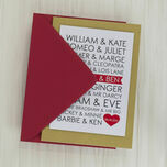 Personalised Famous Couples Valentine's Day Card additional 3