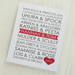Personalised Sci-Fi Couples Valentine's Day Print additional 2