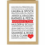 Personalised Sci-Fi Couples Valentine's Day Card additional 1