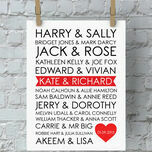 Personalised Rom-Com Couples Valentine's Day Print additional 1
