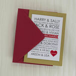 Personalised Rom-Com Couples Valentine's Day Card additional 3