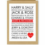 Personalised Rom-Com Couples Valentine's Day Card additional 1