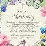 Butterfly Garden Christening / Baptism Invitation additional 4