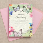Butterfly Garden Christening / Baptism Invitation additional 1