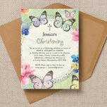 Butterfly Garden Christening / Baptism Invitation additional 2