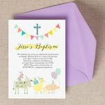 Farmyard Animals Christening / Baptism Invitation additional 2