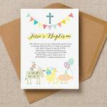 Farmyard Animals Christening / Baptism Invitation additional 3