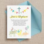 Farmyard Animals Christening / Baptism Invitation additional 1