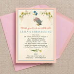 Jemima Puddle-Duck Christening / Baptism Invitation additional 4