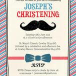 'Little Man' Christening / Baptism Invitation additional 2