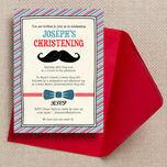 'Little Man' Christening / Baptism Invitation additional 4