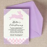 Pastel Bunny Christening / Baptism Invitation additional 1