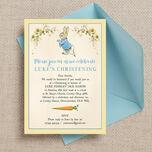 Peter Rabbit Christening / Baptism Invitation additional 1