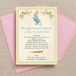 Peter Rabbit Christening / Baptism Invitation additional 2