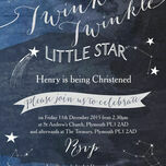 Twinkle Twinkle Little Star Christening / Baptism Invitation additional 3
