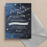 Twinkle Twinkle Little Star Christening / Baptism Invitation additional 2