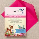 Vintage Deer Christening / Baptism Invitation additional 1