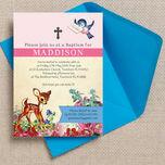 Vintage Deer Christening / Baptism Invitation additional 2