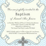 Ornate Cross Christening / Baptism Invitation additional 6