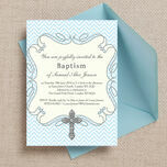 Ornate Cross Christening / Baptism Invitation additional 1