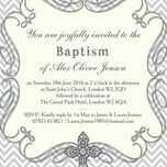 Ornate Cross Christening / Baptism Invitation additional 4