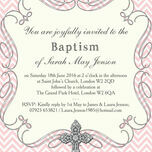 Ornate Cross Christening / Baptism Invitation additional 5
