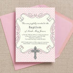 Ornate Cross Christening / Baptism Invitation additional 2