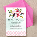 Watercolour Floral Christening / Baptism Invitation additional 2