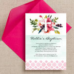 Watercolour Floral Christening / Baptism Invitation additional 3