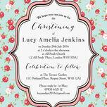 Vintage Rose Christening / Baptism Invitation additional 4