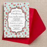 Vintage Rose Christening / Baptism Invitation additional 3