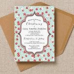 Vintage Rose Christening / Baptism Invitation additional 2
