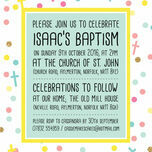 Pastel Confetti Personalised Christening / Baptism Invitation additional 3