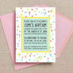 Pastel Confetti Personalised Christening / Baptism Invitation additional 2