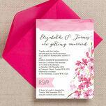 Cherry Blossom Wedding Invitation additional 1