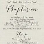 Rustic Calligraphy Personalised Christening / Baptism Invitation additional 4