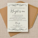 Rustic Calligraphy Personalised Christening / Baptism Invitation additional 1