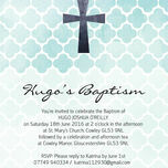 Watercolour Geometric Personalised Christening / Baptism Invitation additional 3
